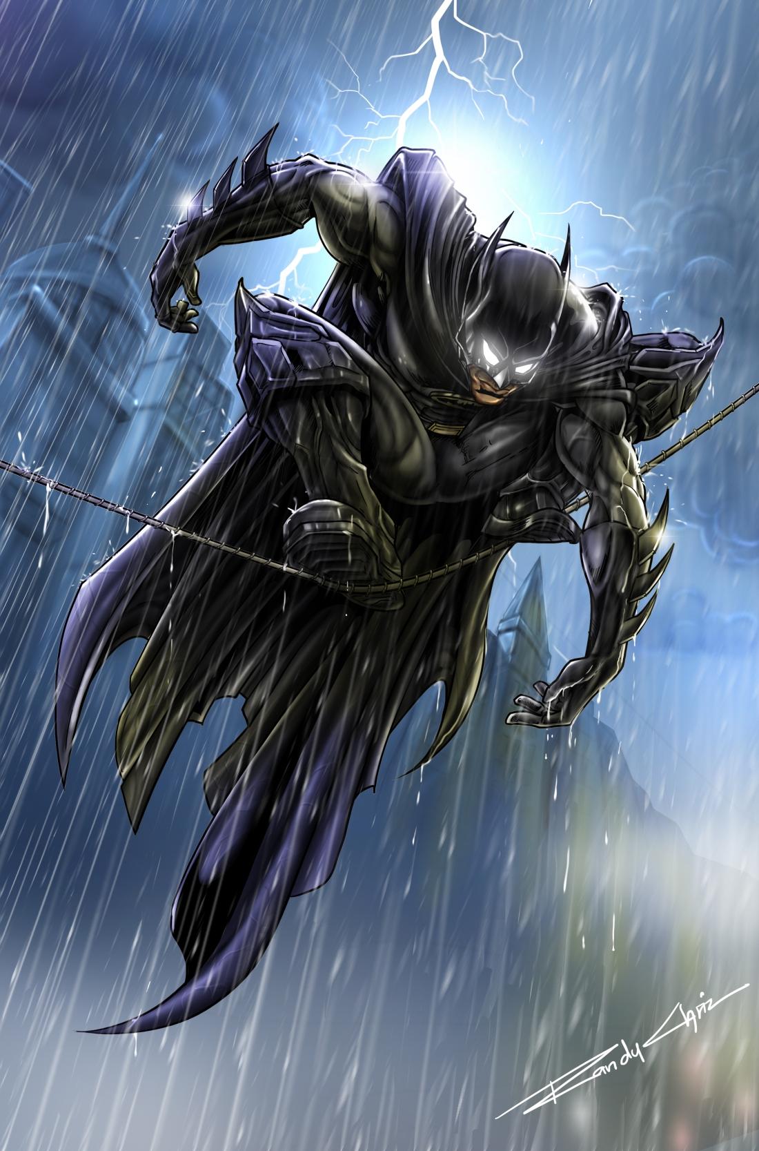 Bat man on rope Clean